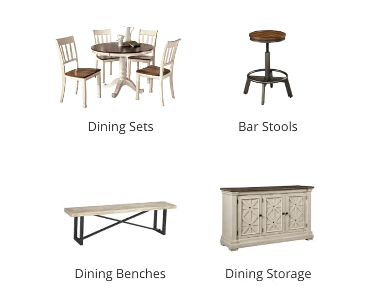 Dining Sets, Bar Stools, Dining Benches, Dining Storage