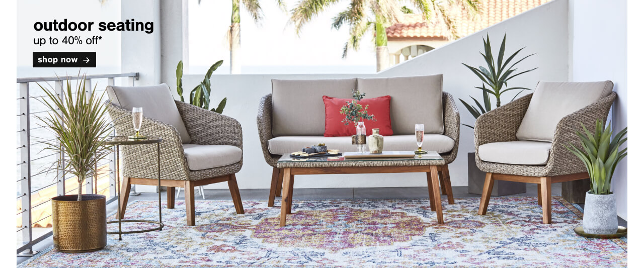Outdoor Seating up to 40% Off