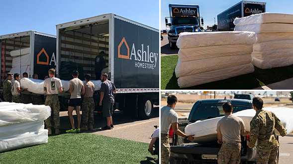 Tempur Sealy and Ashley HomeStore Team Up to Donate a Truckload of Tempur-Pedic Mattresses to Special Operations Forces in Arizona