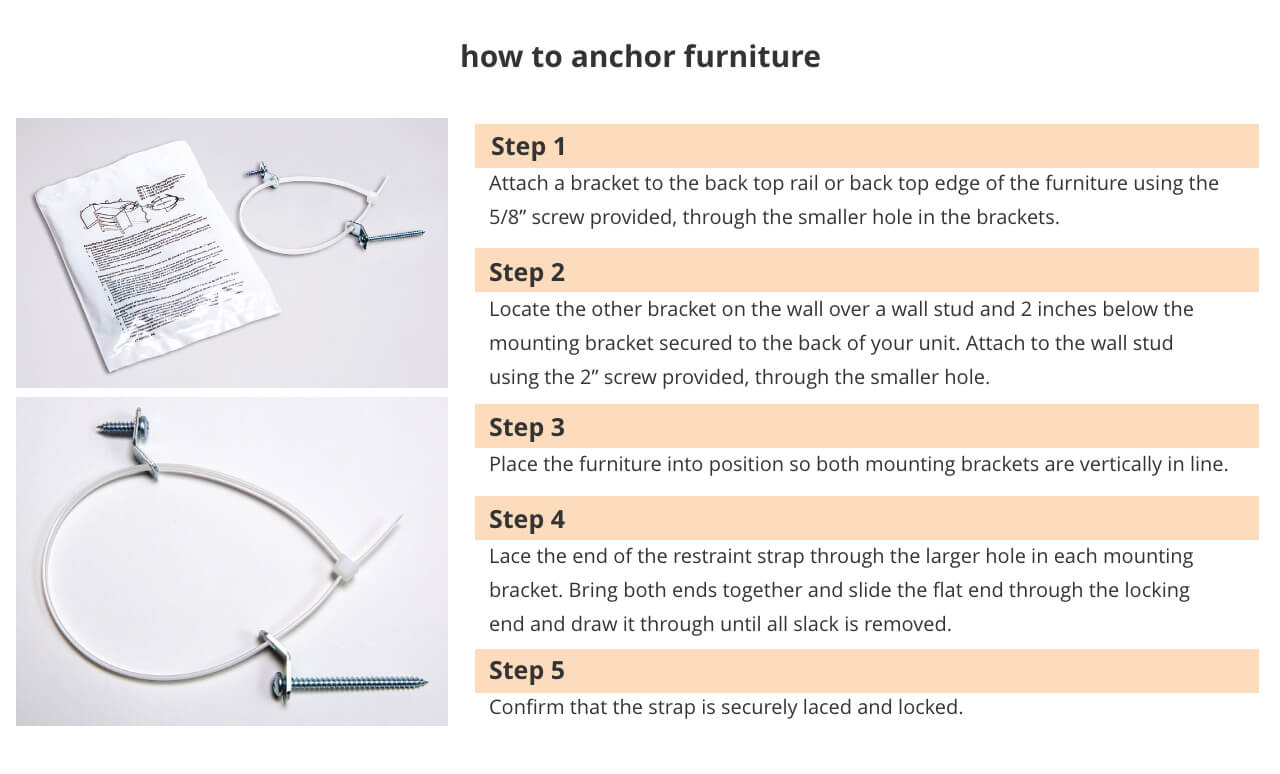 How to properly anchor your furniture