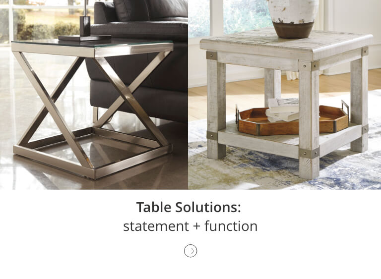 Mix and match seating and table solutions