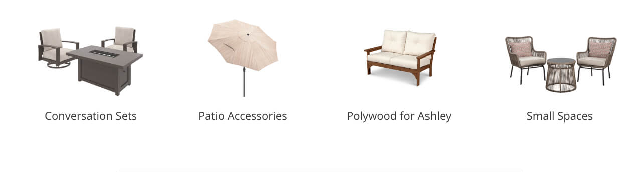 Outdoor Conversation Sets, Outdoor Patio Accessories, Polywood for Ashley, Small Spaces