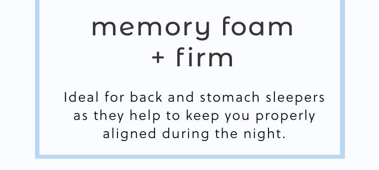 Memory Foam plus Firm Mattresses