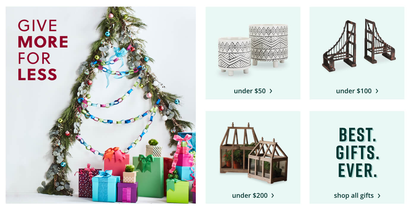 Gifts Under: $50, $100, $200, Shopp All Gifts