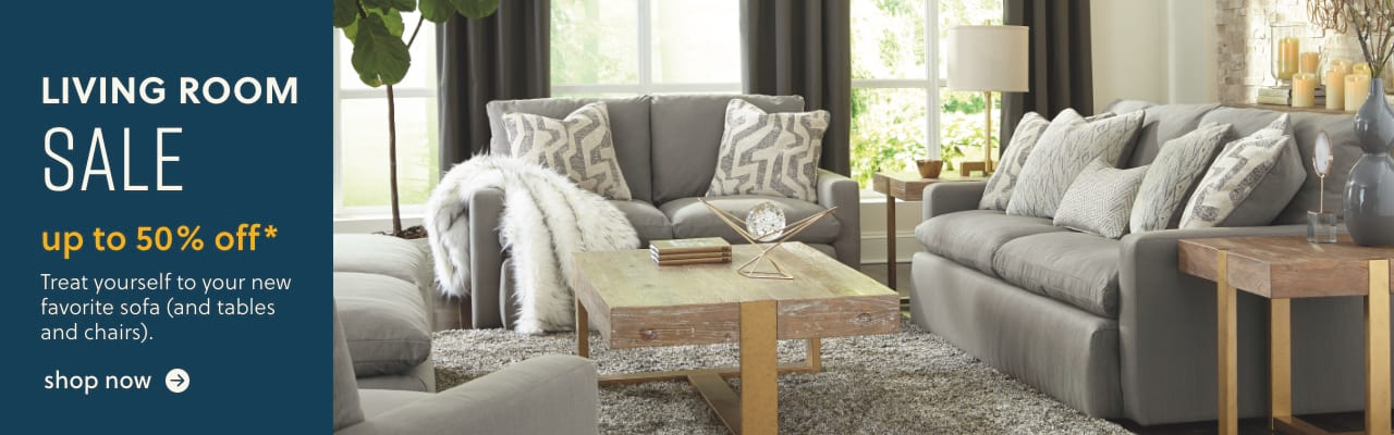 Living Room Blowout, Sofas, Sectionals, TV Stands and more up to 40% off*