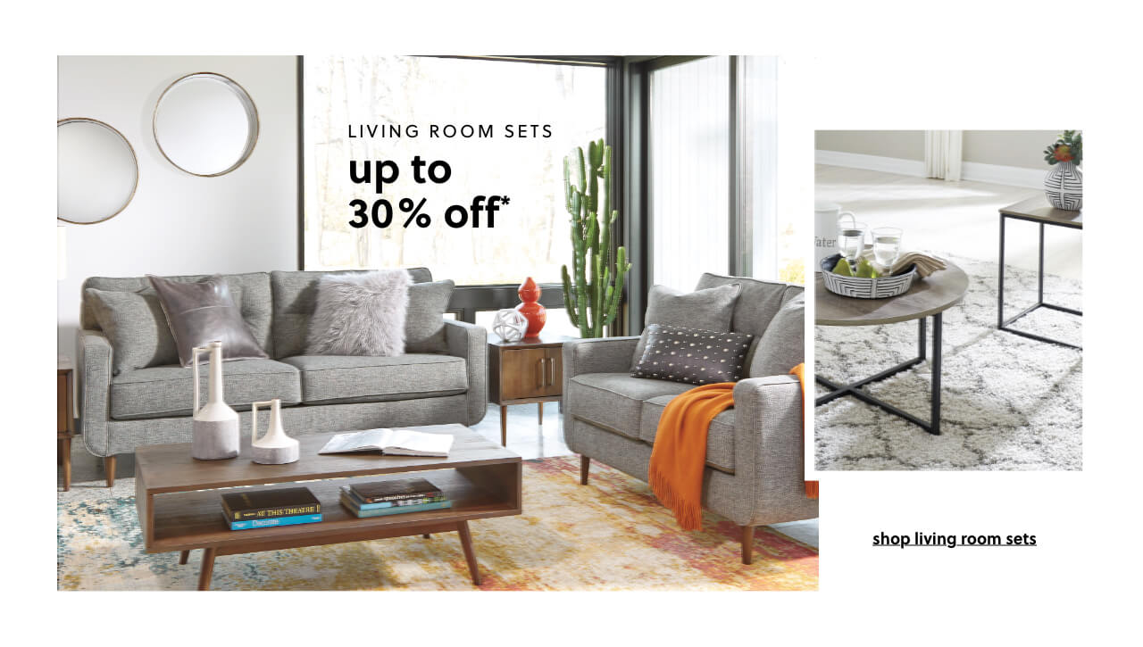 Up to 30% Off* Living Room Sets
