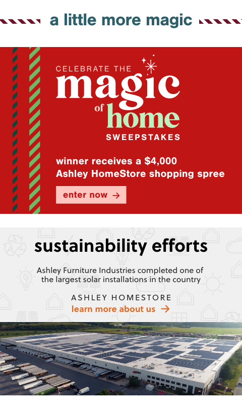Magic of Home Sweepstakes, About Ashley HomeStore