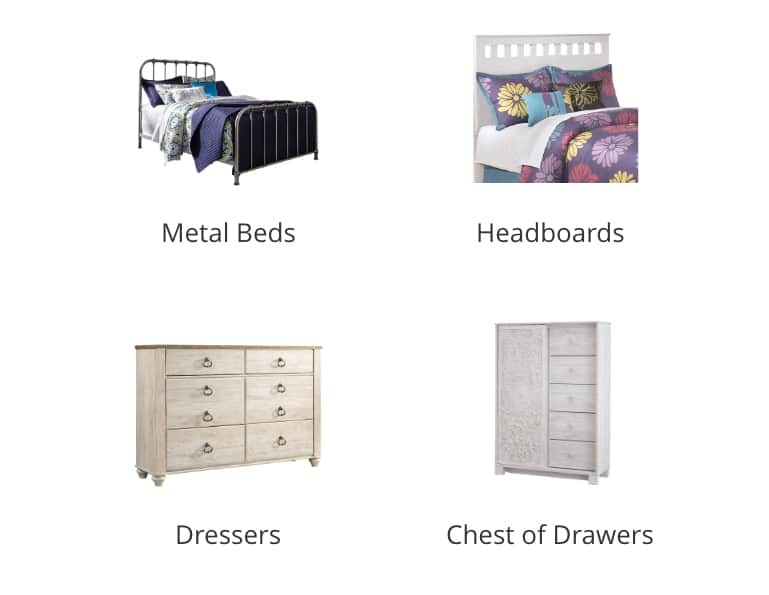 Kids Metal Beds, Kids Headboards, Kids Dressers, Kids Check of Drawers