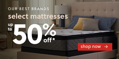 Our Best Mattress Brands Up to 50% Off*