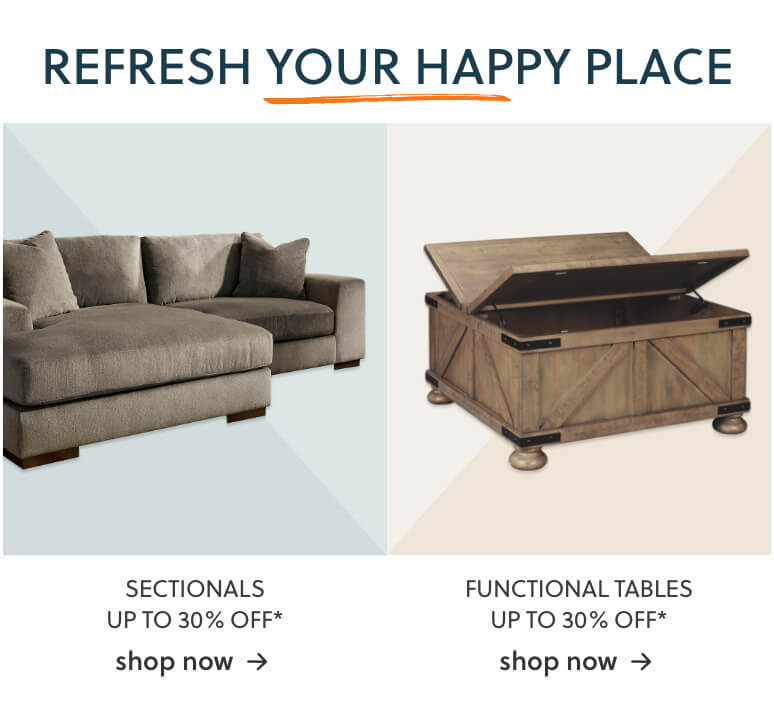 Sectionals, Functional Tables