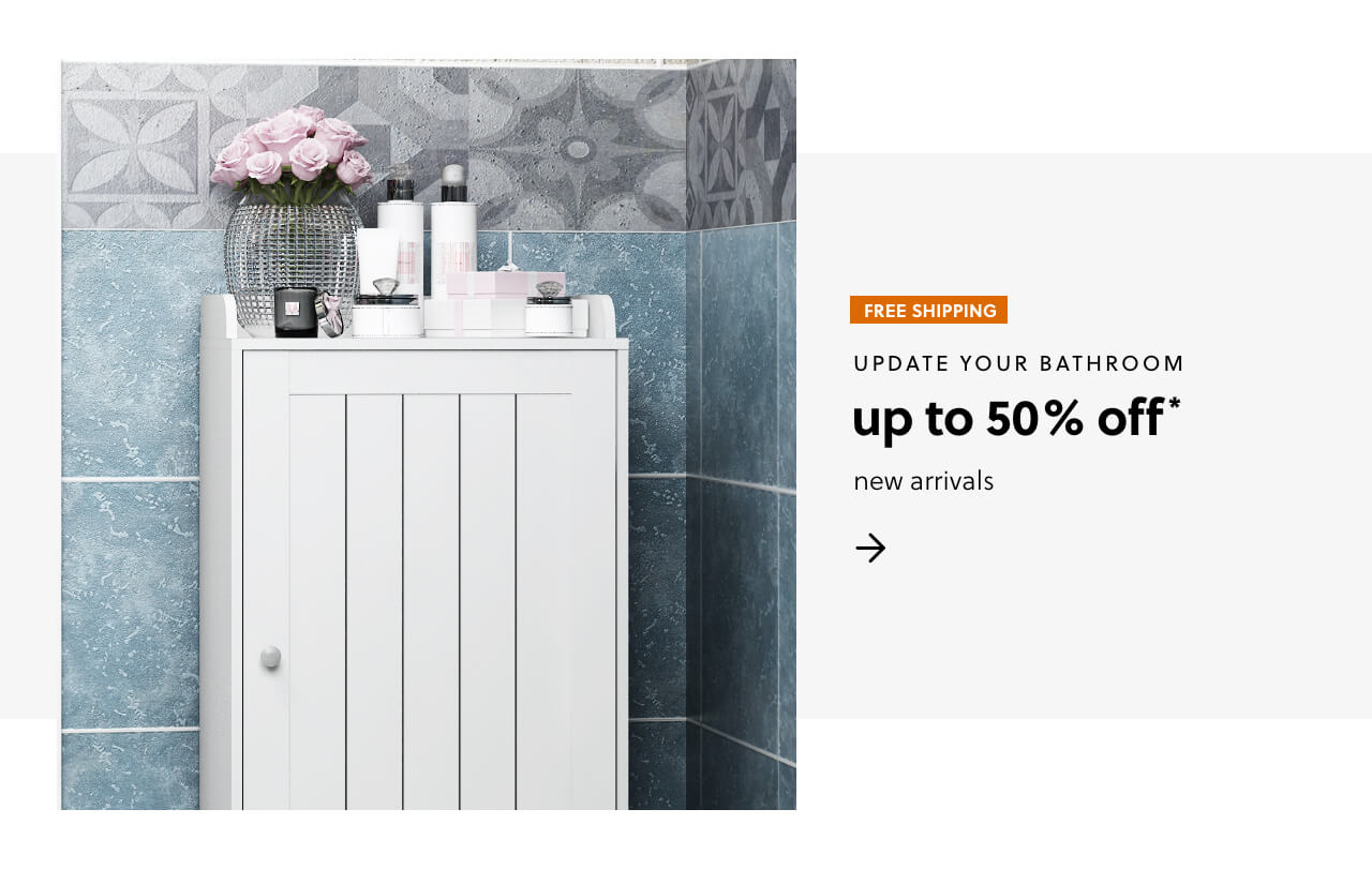 Update Your Bathroom with our Newly Expanded Assortment              Up to 50% Off + Free Shipping