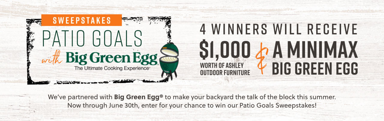 Patio Goals with Big Green Egg