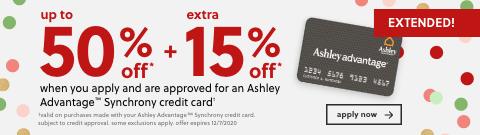 Ashley Advantage Synchrony Credit Card