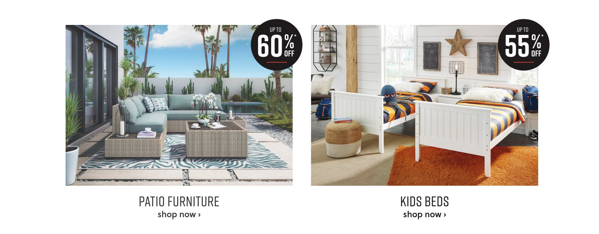 Outdoor Seating Sale and Pint-Size Furniture up to 50% off*