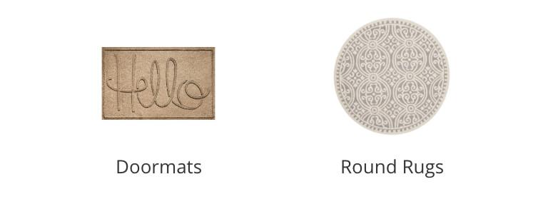 Doormats, Round Rugs