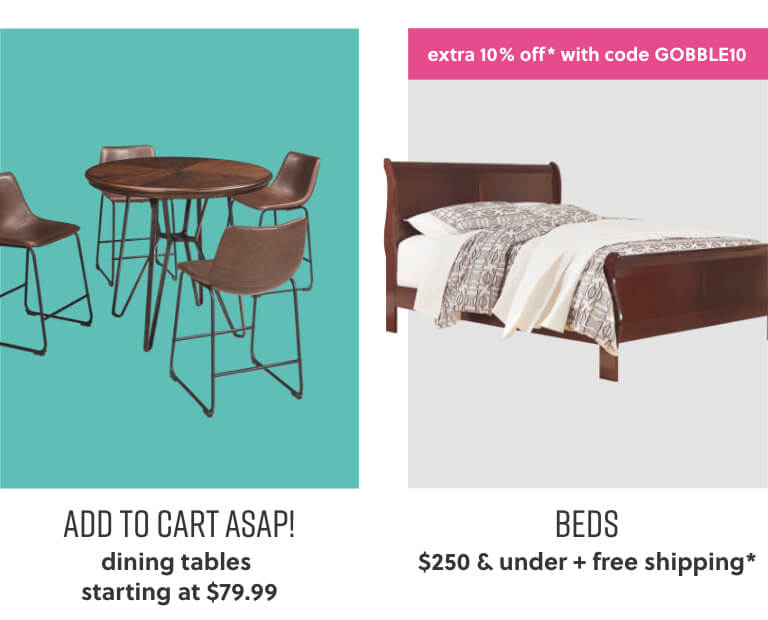 Dining Tables, Beds with Free Shipping