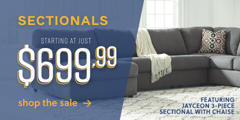 Sectionals starting at just $699.99