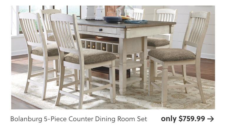Bolanburg 5-Piece Counter Dining Room Set