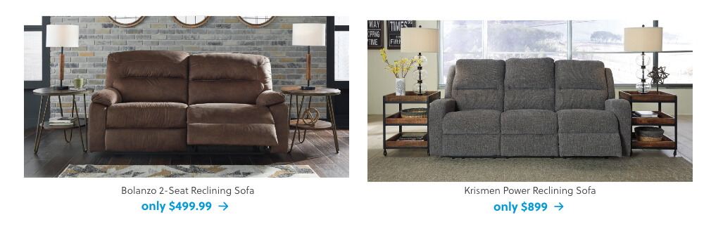 Bolanzo 2-Seat Reclining Sofa, Krismen Power Reclining Sofa