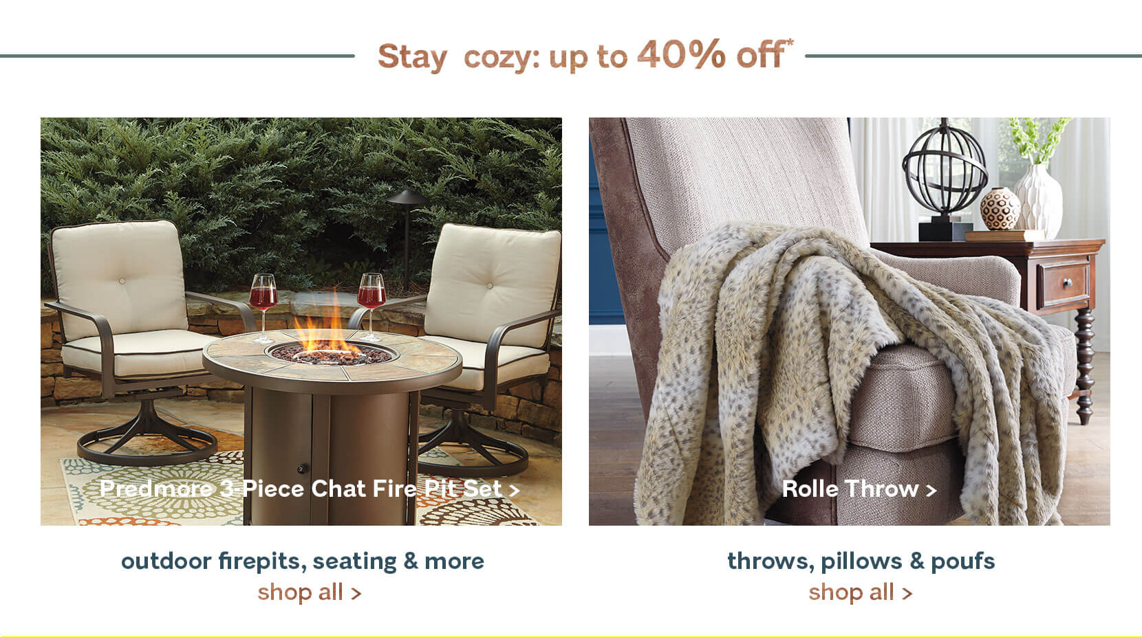 Cozy Furniture Indoor or Outdoor. Ashley Furniture HomeStore   Home Furniture   Decor   Ashley
