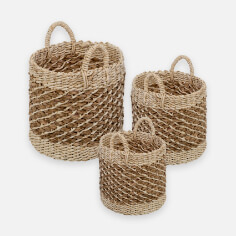 Honey-Can-Do Tea Stained Woven Basket