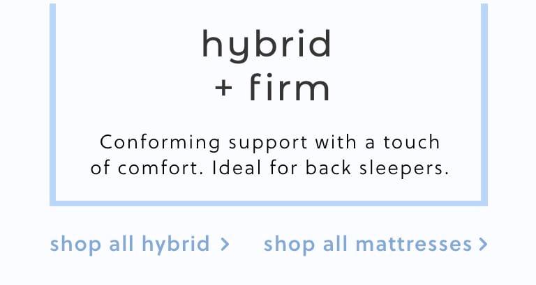 Hybrid Firm Mattresses