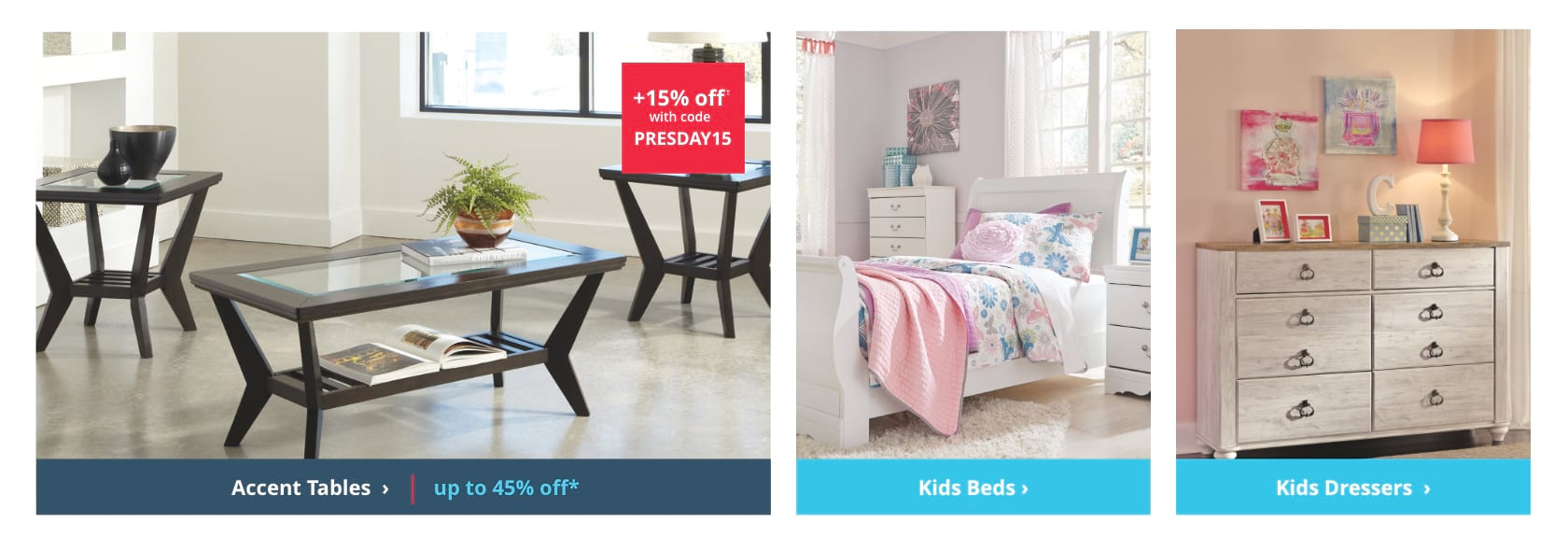 Shop TV Stands, Kids Beds, Kids Dressers