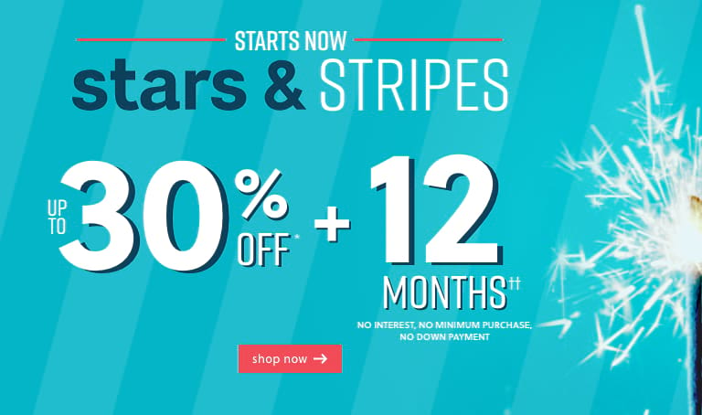 Stars and Stripes: Up to 30% Off