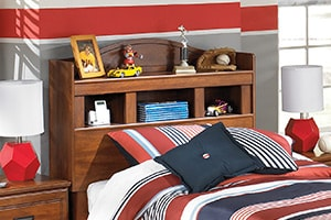 B228 - Bookcase Headboard