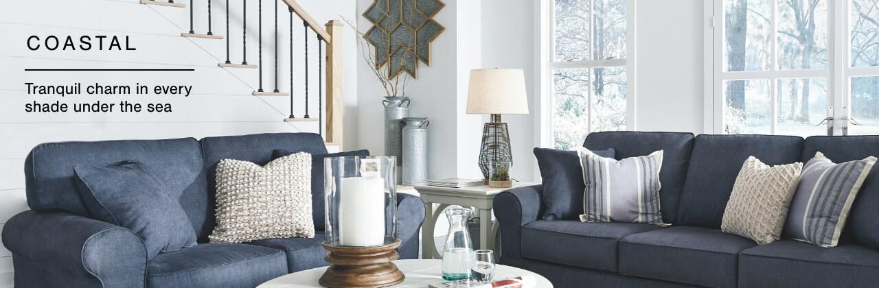 charming coastal furniture decor ashley furniture homestore