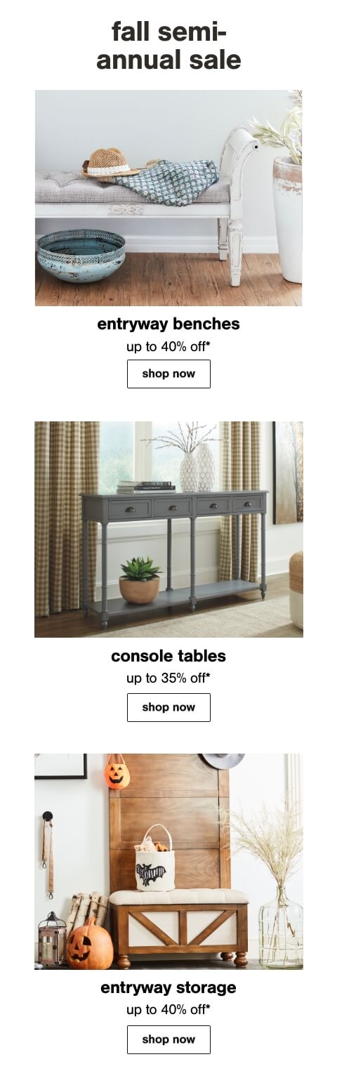 Entryway Tables, Entryway Benches, Cabinets