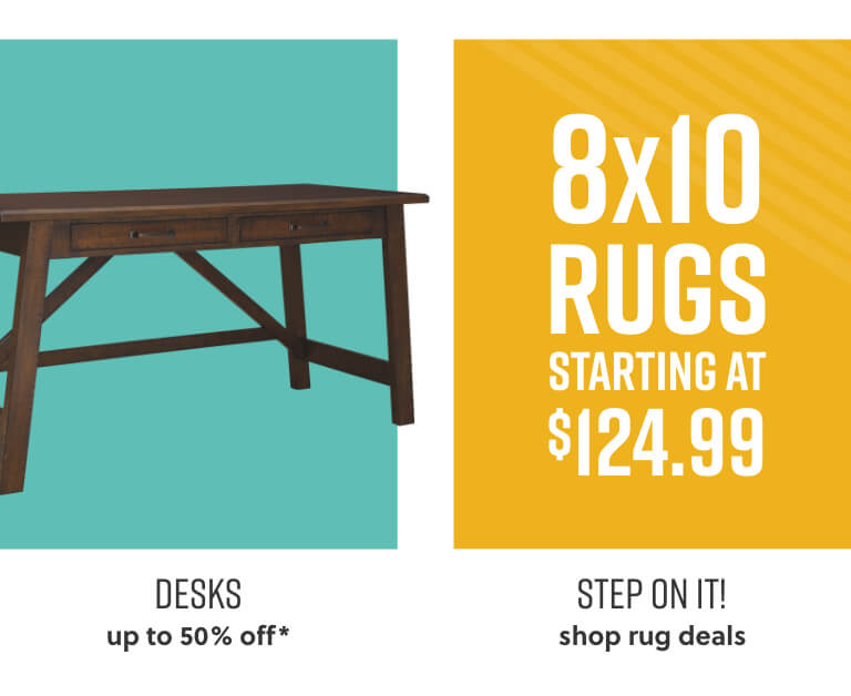 Desks with Free Shipping, Rug Deals