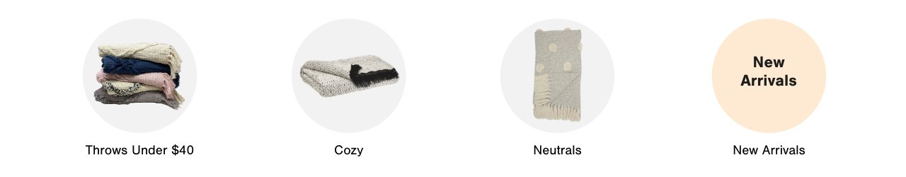 Textiles: Blankets & Throws: Throws under $40, Cozy, Neutrals, and New Arrivals