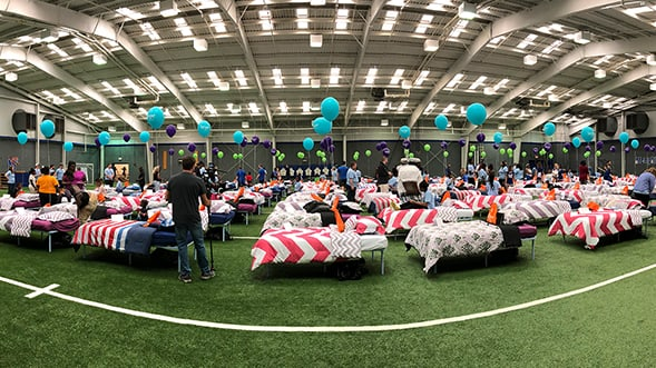 Ashley HomeStore and the Memphis Tigers Host Hope to Dream Event