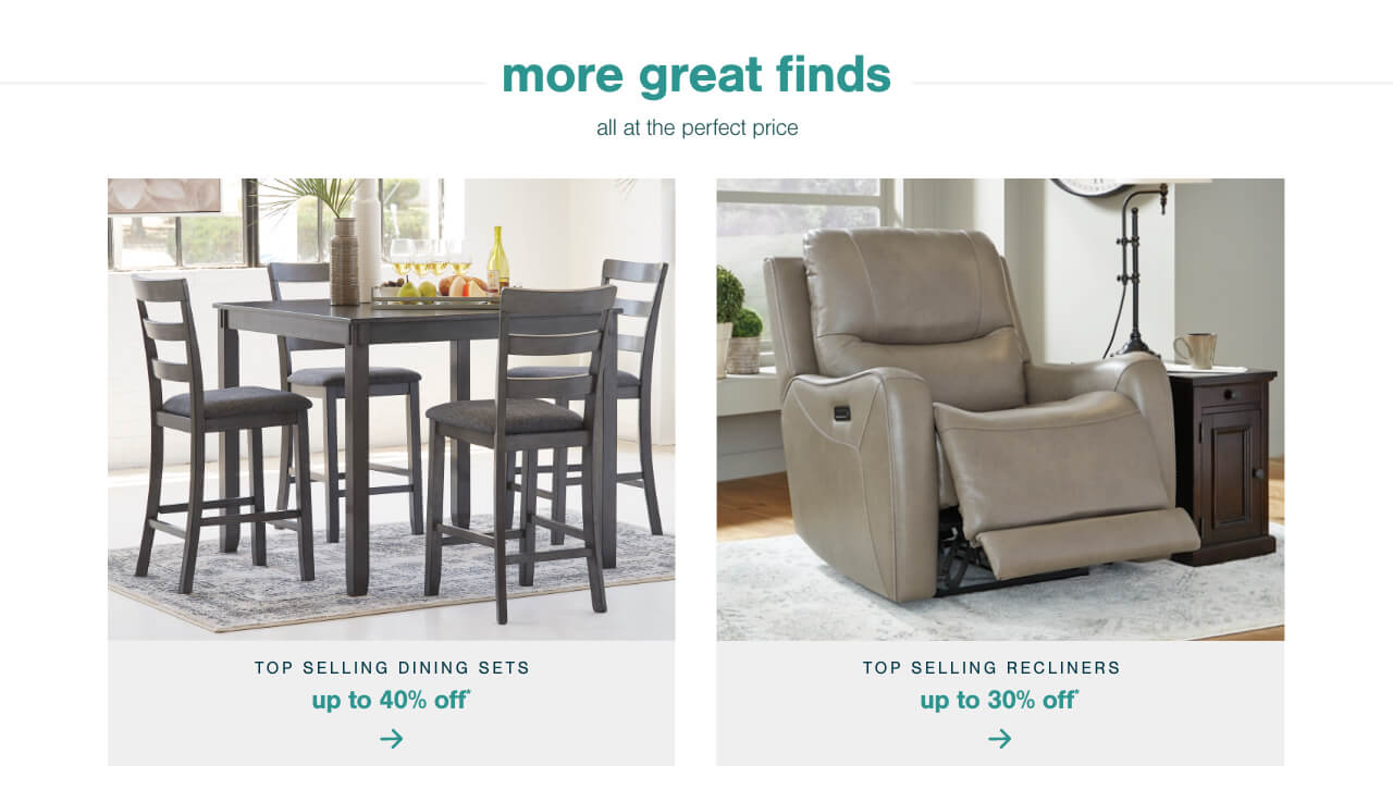 Top Selling Recliners Up To 30% Off,Top Selling Dining Sets Up to 40% Off