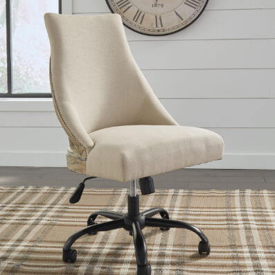 Wood Frame Home Office Desk Chair