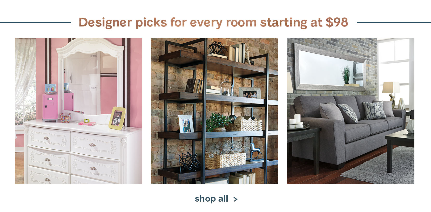 Shop Designer Picks. Ashley Furniture HomeStore   Home Furniture   Decor   Ashley