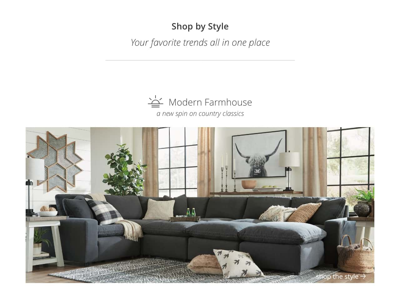 Shop By Style Home Furnishings Decor Ashley Furniture Homestore