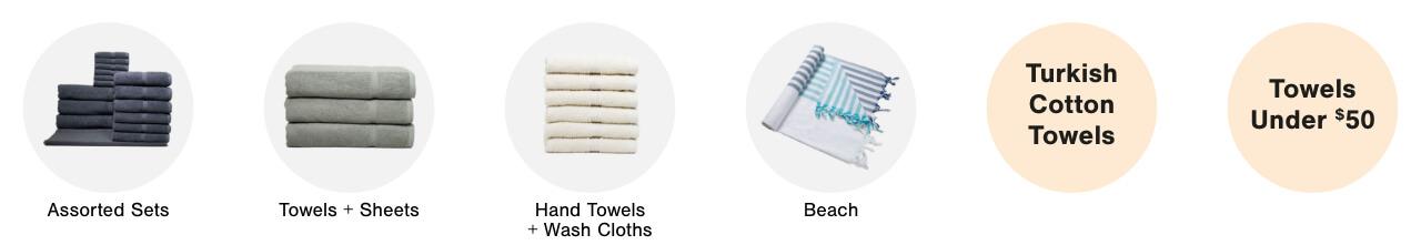 Assorted Towel Sets,Bath Towels, Hand Towels & Wash Cloths, Beach Towels,Turkish Cotton Towels,Towels Under $50