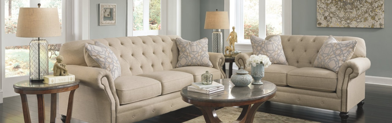 Shop for a white loveseat and sofa within our living room collection from Ashley Furniture HomeStore.