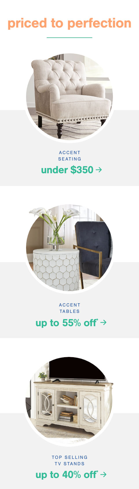 Accent Seating under $350   , Accent Tables up to 55% Off + Free Shipping