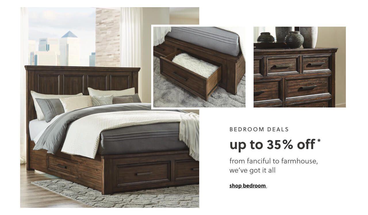 Shop Bedroom Deals up to 35% Off*