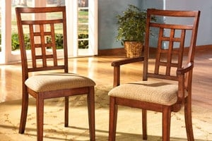 Cross Island dining room chairs - Fretwork