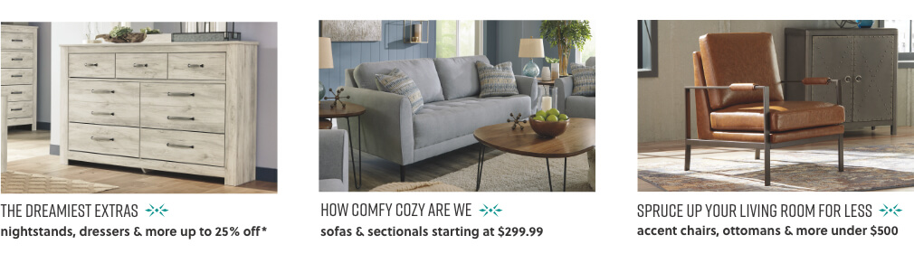Nightstands, Dressers, Sofas, Sectionals, Accent Chairs, Ottomans, Living Room Furniture
