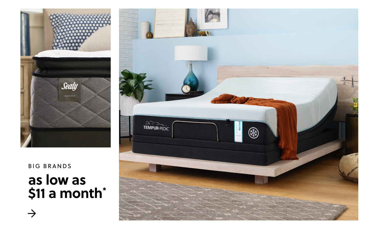 Mattress Month! Shop our Best Brands starting at just $11 a month