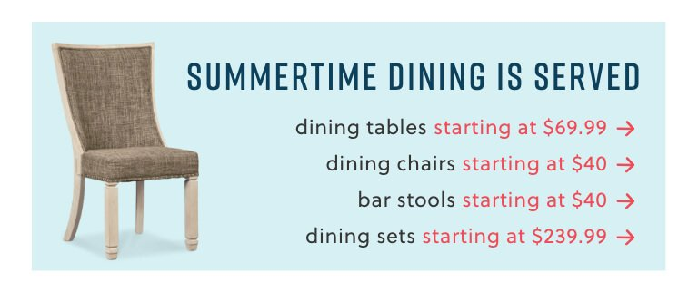 Dining Tables, Chairs, Sets, and Bar Stools