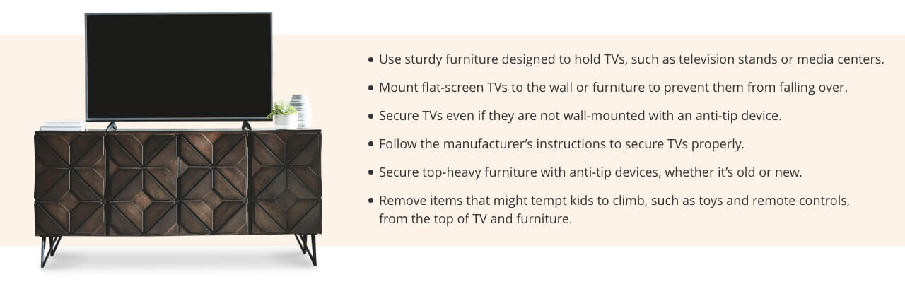 Child Safety, Secure Your Furniture
