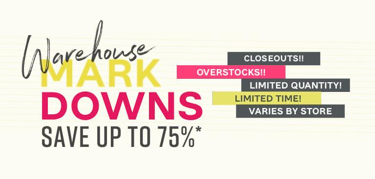 Warehouse Markdowns