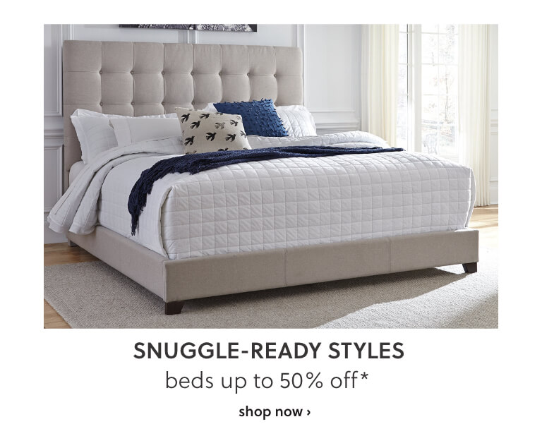 Beds up to 50% off