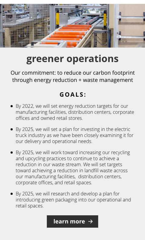 Greener Operations